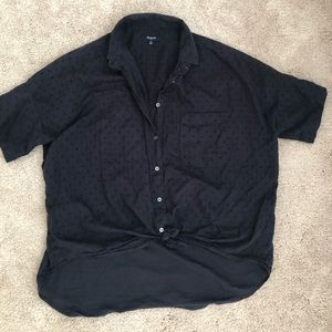 Madewell button up - black